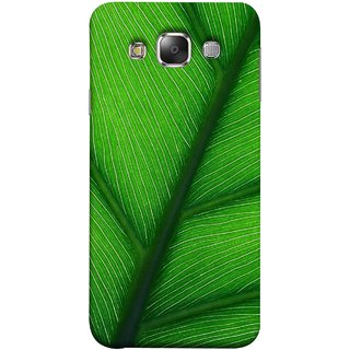 FUSON Designer Back Case Cover for Samsung Galaxy E7 (2015) :: Samsung Galaxy E7 Duos :: Samsung Galaxy E7 E7000 E7009 E700F E700F/Ds E700H E700H/Dd E700H/Ds E700M E700M/Ds  (Bright Green Leaf Of Tree Full Of Life Network Of Veins)