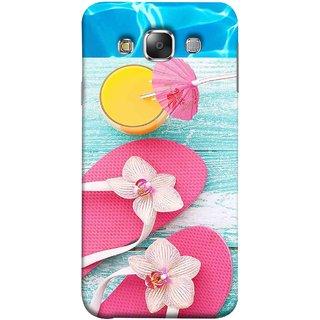 FUSON Designer Back Case Cover for Samsung Galaxy E7 (2015) :: Samsung Galaxy E7 Duos :: Samsung Galaxy E7 E7000 E7009 E700F E700F/Ds E700H E700H/Dd E700H/Ds E700M E700M/Ds  (Orange Mango Fresh Juice Smoothie Drink Cocktail)