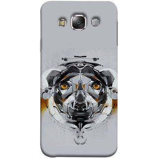 FUSON Designer Back Case Cover for Samsung Galaxy E7 (2015) :: Samsung Galaxy E7 Duos :: Samsung Galaxy E7 E7000 E7009 E700F E700F/Ds E700H E700H/Dd E700H/Ds E700M E700M/Ds  (Multicolour Dog Perfect Look King Bird Night Tree)