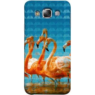 FUSON Designer Back Case Cover for Samsung Galaxy E7 (2015) :: Samsung Galaxy E7 Duos :: Samsung Galaxy E7 E7000 E7009 E700F E700F/Ds E700H E700H/Dd E700H/Ds E700M E700M/Ds  (Animal Birds Long Beak Beautiful Wallpaper Designs)