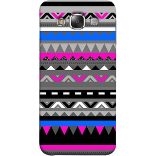 FUSON Designer Back Case Cover for Samsung Galaxy E7 (2015) :: Samsung Galaxy E7 Duos :: Samsung Galaxy E7 E7000 E7009 E700F E700F/Ds E700H E700H/Dd E700H/Ds E700M E700M/Ds  (Tribal Patterns Colourful Eye Catching Verity Different )