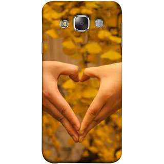 FUSON Designer Back Case Cover for Samsung Galaxy E7 (2015) :: Samsung Galaxy E7 Duos :: Samsung Galaxy E7 E7000 E7009 E700F E700F/Ds E700H E700H/Dd E700H/Ds E700M E700M/Ds  (Close Up Male And Female Hands Making Heart Shape)