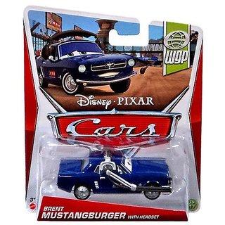 Disney Pixar Cars BRENT MUSTANGBURGER WITH HEADSET - WGP SERIES Series #15/17 - 1:55 Scale