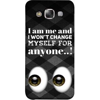 FUSON Designer Back Case Cover for Samsung Galaxy E7 (2015) :: Samsung Galaxy E7 Duos :: Samsung Galaxy E7 E7000 E7009 E700F E700F/Ds E700H E700H/Dd E700H/Ds E700M E700M/Ds  (For Anyone Eyes Two Logos Main Khud Ko Kisi Ke )