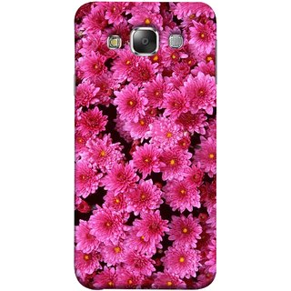 FUSON Designer Back Case Cover for Samsung Galaxy E7 (2015) :: Samsung Galaxy E7 Duos :: Samsung Galaxy E7 E7000 E7009 E700F E700F/Ds E700H E700H/Dd E700H/Ds E700M E700M/Ds  (Thousands Flowers Magenta Mums Nature Pink)