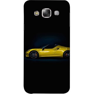FUSON Designer Back Case Cover for Samsung Galaxy E7 (2015) :: Samsung Galaxy E7 Duos :: Samsung Galaxy E7 E7000 E7009 E700F E700F/Ds E700H E700H/Dd E700H/Ds E700M E700M/Ds  (Yellow 918 Spyder Top View Expensive Cars)