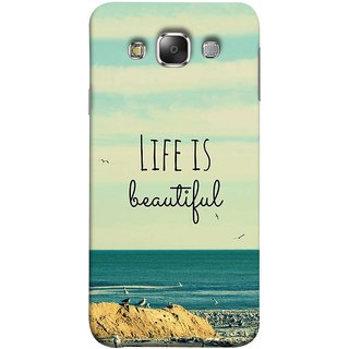 FUSON Designer Back Case Cover for Samsung Galaxy E7 (2015) :: Samsung Galaxy E7 Duos :: Samsung Galaxy E7 E7000 E7009 E700F E700F/Ds E700H E700H/Dd E700H/Ds E700M E700M/Ds  (Adorable Wallpapers Best Quotes Enjoy Together Happy)