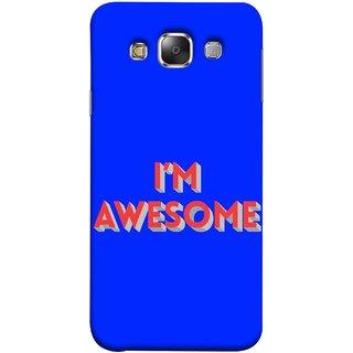 FUSON Designer Back Case Cover for Samsung Galaxy E7 (2015) :: Samsung Galaxy E7 Duos :: Samsung Galaxy E7 E7000 E7009 E700F E700F/Ds E700H E700H/Dd E700H/Ds E700M E700M/Ds  (I Am Lovely Wow Fact Motivational Inspirational Words)