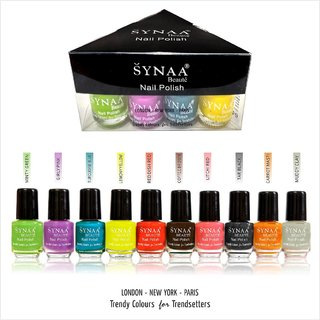 Synaa Nail Polish Set of 10 Pieces (Multicolor Set 1)