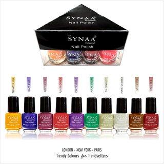 Synaa Nail Polish Set of 10 Pieces (Multicolor Set 2)