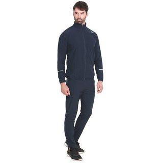 Nike Men Navy Plain Polyester Lycra Zipper Tracksuit