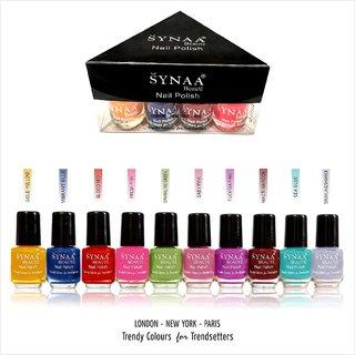 Synaa Nail Polish Set of 10 Pieces (Multicolor Set 3)