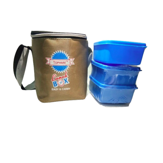 Topware 3 container 3g lunch box with free forks and spoon and insulated bag 23fb28f1d8d69