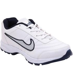 Jaisco Men's White Lace-up Training Shoes