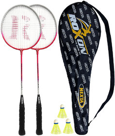 Roxon Nexta Badminton Racquet Set Assorted Colours with Cover and 3 piece Shuttle