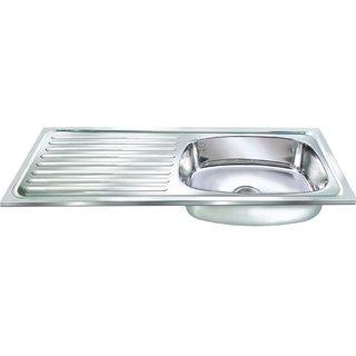 Janki Single Bowl with DrainBoard Sink 37x18x8