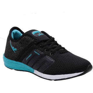 Fhonex Men's Black Lace-up Training Shoes
