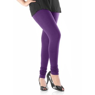 Purple Cotton Lycra Leggings