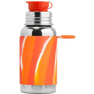 Pura Kiki 18oz Orange Swirl Sleeve Stainless Steel Sports Bottle By Montyybucks