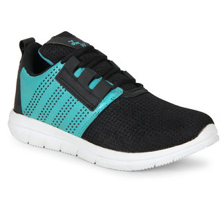 SMARTWOOD Men's Black Lace-up Running Shoes