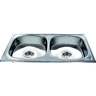 Janki Double Bowl Kitchen Sink 37x18x8
