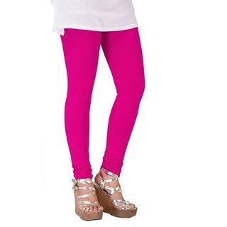 Dark Pink Cotton Lycra Leggings