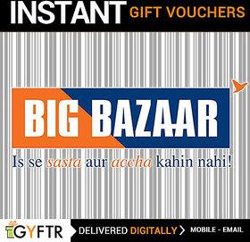 Big Bazaar GyFTR Insta Gift Voucher INR 500 (Payable Only Via Jio Wallet)