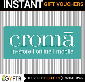 Croma GyFTR Insta Gift Voucher INR 500 (Payable Only Via Jio Wallet)