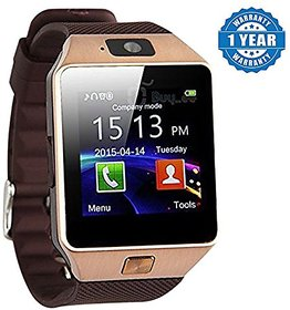 Unboxed Smart Watch DZ09 Golden 3 Months Seller Warranty