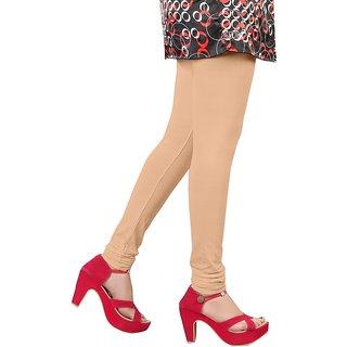 Skin (Beige) Cotton Lycra Leggings