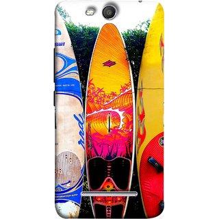 FUSON Designer Back Case Cover for Micromax Canvas Juice 3 Q392 (In Garden Standing Nice Design Ocean Games )