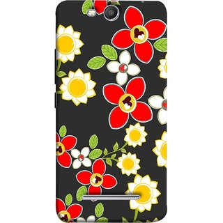 FUSON Designer Back Case Cover for Micromax Canvas Juice 3 Q392 (Floral Patterns Digital Textiles Florals Design Patterns)
