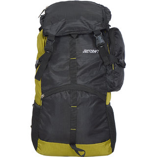 Justcraft Rocky Green Solid Polyester Casual Backpacks
