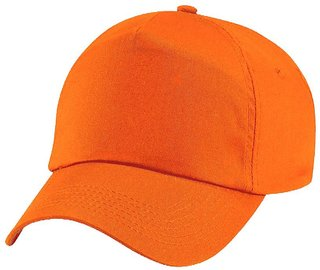 Tahiro Orange Cotton Cap   Pack Of 1