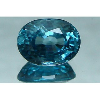 Jaipur Gemstone 7.25 carat Blue Zircon stone
