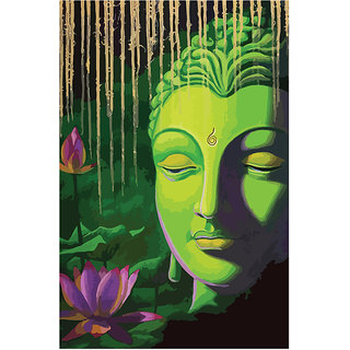 c9d46616cf Buy Posterskart Lord Buddha Painting Poster (12 x 18 inch) Online - Get 33%  Off