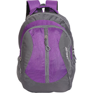 8c407dc2054 27%off Justcraft Flora Purple Solid Polyester Casual Backpacks