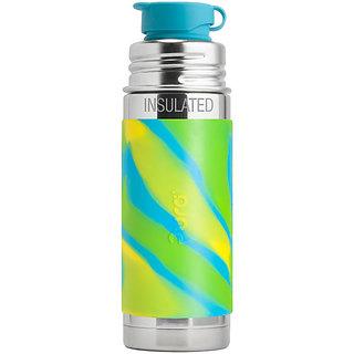 Pura Kiki 9oz Aqua Swirl Sleeve Stainless Steel Insulated Sports Bottle