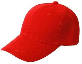 Tahiro Red Cotton Cap - Pack Of 1