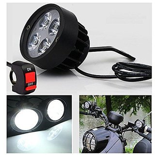 2X 12V-85V LED Motorcycle Headlight Bike Mirror Mount Driving Fog Spot Headlamp. I