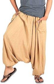 Rayon Beige Harem Pants for Men