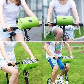 Bicycle Bag Bike Frame Bag Waterproof Handlebar Bag with Phone Transparent Pouch for Riding and Outdoor, Also Can Be Sh