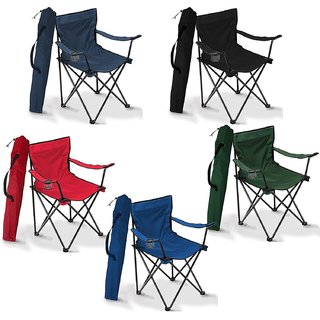 Folding Camping Small Chair Portable Fishing Beach Outdoor Collapsible Chairs- Color May Vay