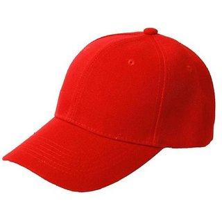 Tahiro Red Cotton Casual Cap - Pack Of 1