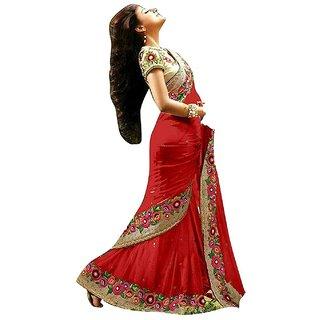 Priyanka Trends wedding look - party wear festive look saree