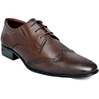 Ostr Men's Formal Genuine Leather Derby Extra Toe Shoe