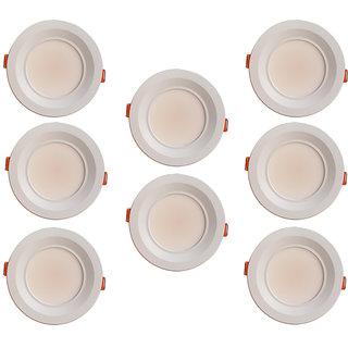 Bene Amore Aluminium Round Ceiling Light (White, 7w Pack of 8 Pcs)