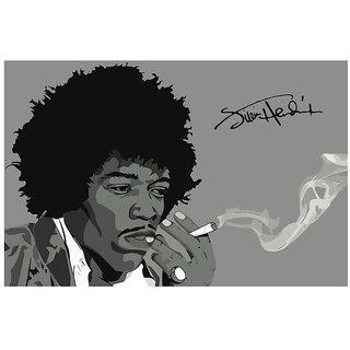 Posterskart Jimi Hendrix Smoking Art Poster 12 X 18 Inch