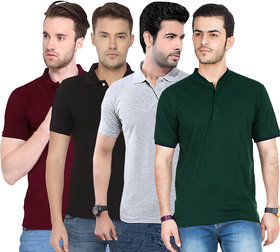 Concepts Multicolor Polo Collar T-shirt  For Men's Pack of 4