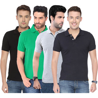Concepts Multicolor Polo Tshirts Pack of 4